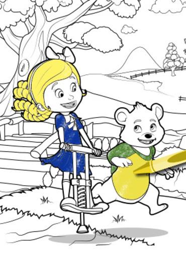 Goldie y Osito para colorear