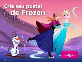 Jogo Crie seu postal de Frozen Online Gratis