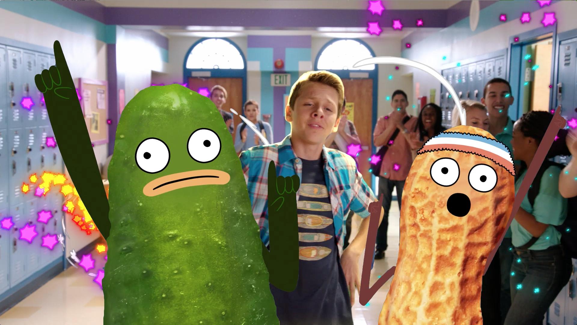Pickle y Maní intervienen Kirby Buckets