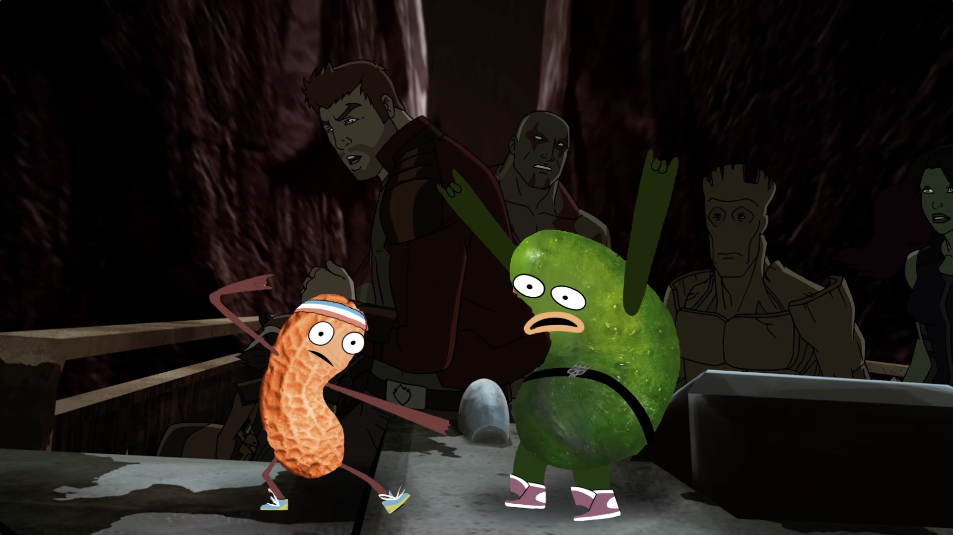 Picles e Amendoim participam de Guardiões da Galáxia - Parte 2