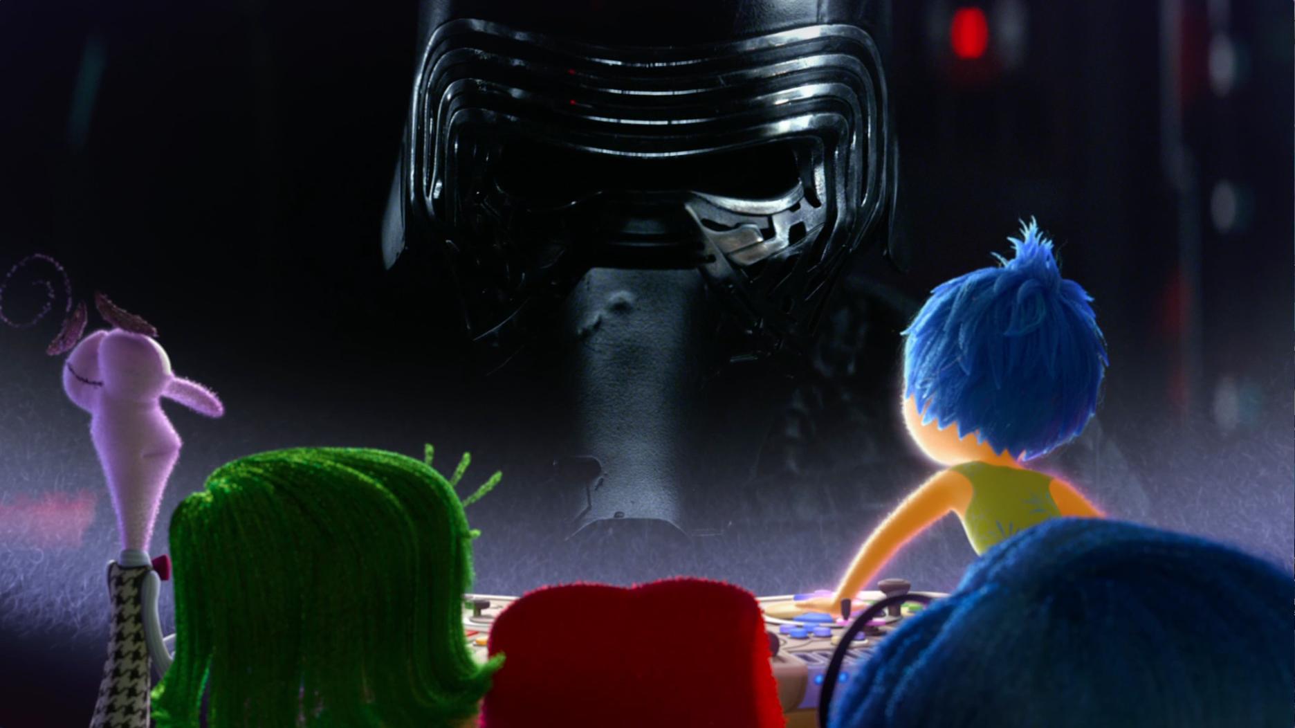 Divertida Mente: reação das emoções ao trailer de Star Wars: O Despertar da Força.