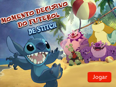 Momento decisivo do futebol Stitch