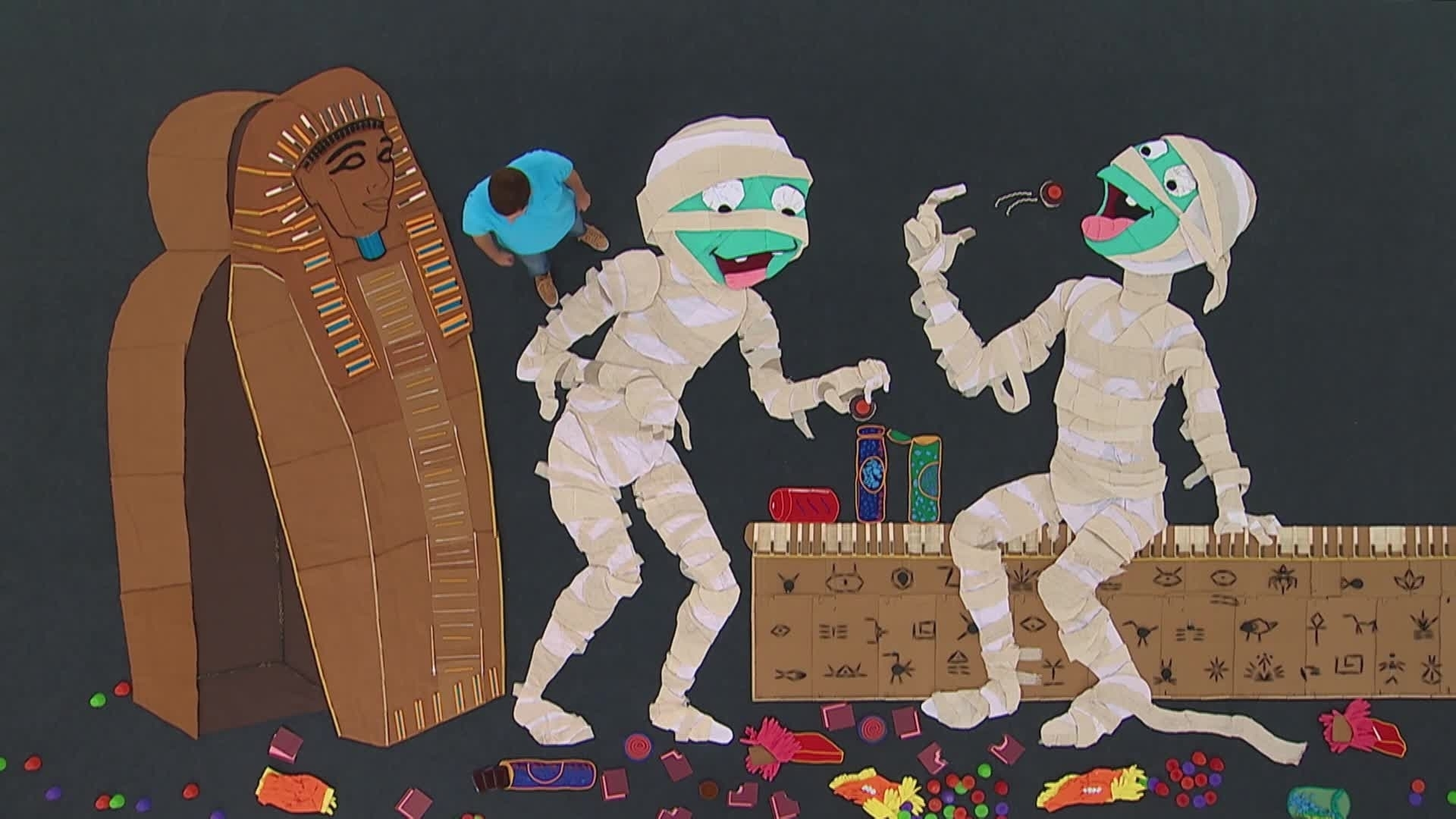 Arte gigante: Múmias - Art Attack