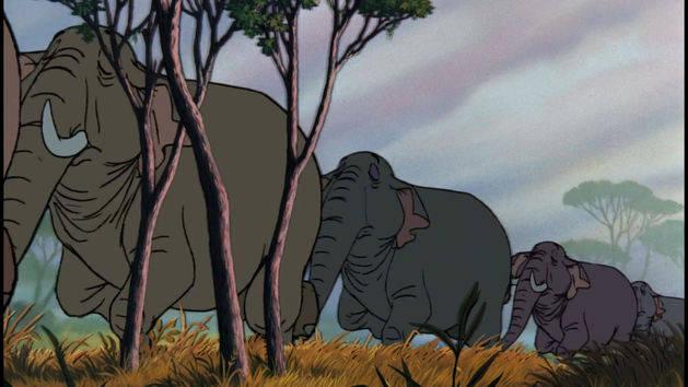 Elefantes marchando - El libro de la selva