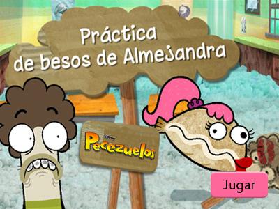 Práctica de besos de Almejandra
