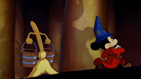 O aprendiz de feiticeiro - Fantasia
