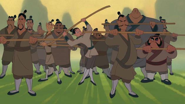Hoje serão homens de ação - Mulan