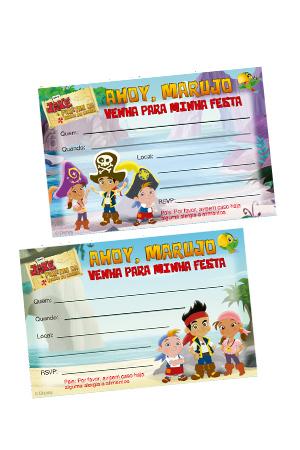Convites de Jake e os Piratas da Terra do Nunca