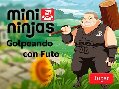 Mini Ninjas - Golpeando con Futo