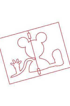 Atividade - Modelo de bolo com o desenho da Casa do Mickey Mouse